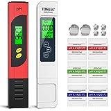 Guangcailun 4 en 1 Set Pantalla LCD Medidor de pH Digital TDS Pluma CE Termómetro ATC probador de la Calidad del Agua