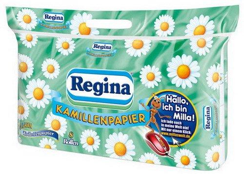 1x Toilettenpapier REGINA Tischläufer, Wohntextilien