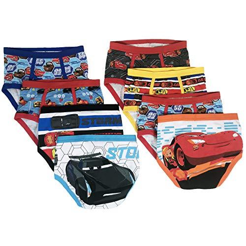 Disney Cars 3 Boys Underwear - 8-Pack Toddler/Little Kid/Big Kid Size Briefs McQueen