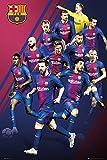 REINDERS FC Barcelona Spieler 2017/18 Poster im Maxi Format