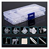 Eyeglasses Nose Pads, Upgraded Soft Silicone Air Chamber Nose Pads for Eyeglasses, 19 Pairs of Glasses Nose Pad (Including Screws 40pcs and Micro Screwdriver Glasses Cloth Anti-Drop Silicone Hook)