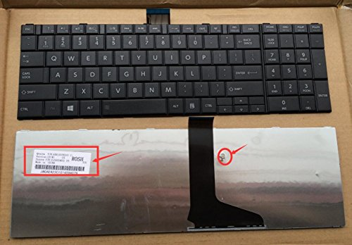New Laptop Replacement Keyboard for Toshiba Satellite C850 C850D C855 C855D C870 C870D C875 C875D Series US Layout AER15U00310 V150924AS1 Black C850