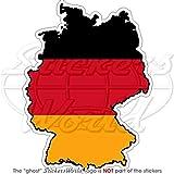 Deutschland Deutsch map-flag Deutschland 10,9cm 110) Vinyl Bumper Aufkleber, Aufkleber