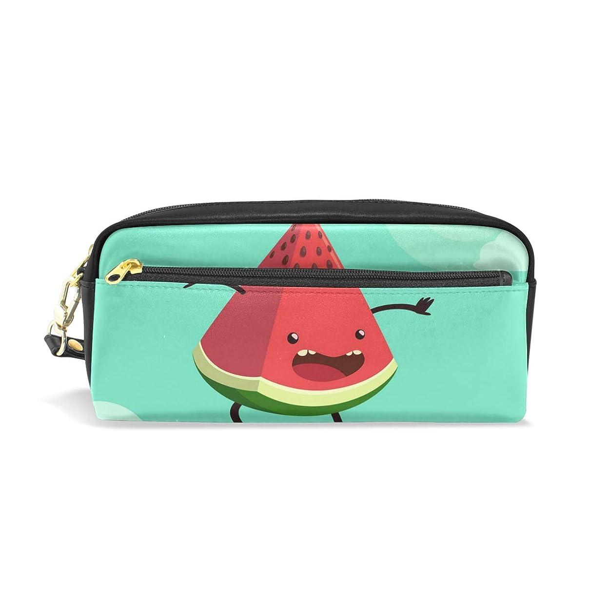部エゴイズム荒廃するAOMOKI ペンケース 小物入り 多機能バッグ ペンポーチ 化粧ポーチ 男女兼用 ギフト プレゼント おしゃれ スイカ 可愛い 果物 フルーツ