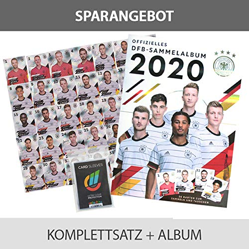 CAGO EM 2020 REWE Sammelkarten - 1 Komplettsatz Glitzer + Album + Collect-it Sleeves Hüllen