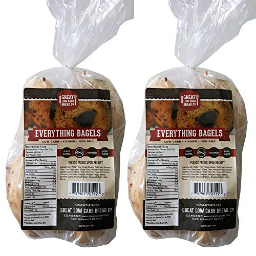2 Pack Value: Everything Bagel, Great Low Carb Bread Co.