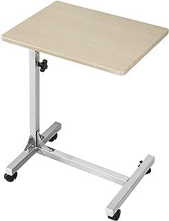 Coavas Mesa para encima de la cama C con 3 niveles de ajuste con ruedas con bloqueo, médica, portátil, portátil, portátil,...