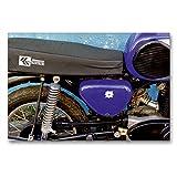 Premium Textil-Leinwand 90 x 60 cm Quer-Format Motorrad der Marke MZ aus der DDR | Wandbild, HD-Bild auf Keilrahmen, Fertigbild auf hochwertigem Vlies,...