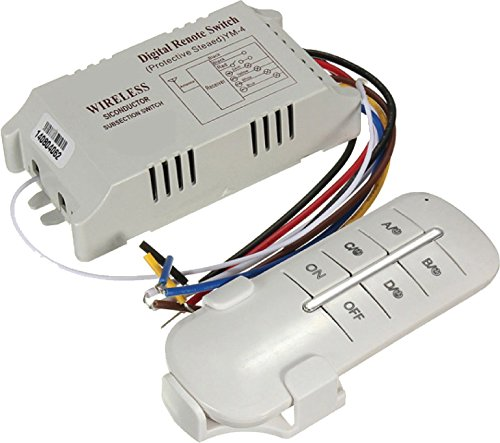 takestop® afstandsbediening voor 2 kanalen, lichtschakelaar, WLAN, 30 W, 60 m
