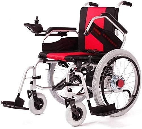 CCAN Sillas de Ruedas eléctricas, sillas de Ruedas eléctricas Ligeras Silla de Viaje de tránsito portátil propulsada por un Asistente con Estructura Plegable para Ancianos Interesting Life