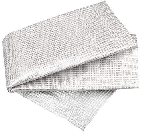 Connex Gitterfolie 2 x 3 m - 100 g/m² - PP - Mit PE-Faden verstärkt - UV-stabilisiert & wetterfest - Zum Bau von Gewächshäusern & Schutz vor Witterung / Gewächshausfolie / Frühbeetfolie / FLOR80370