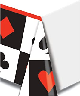 Creative Converting Printed Plastic Table Cover, 54 by 108-Inch, Card Night - 728630