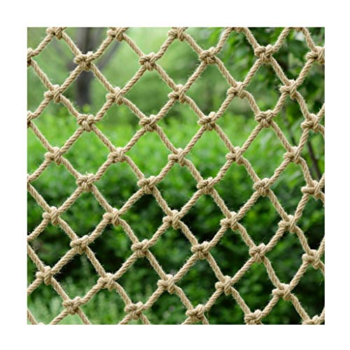 Hennep Geel Touw Net, Partitie Isolatie Decoratieve Netto Kleding Winkel Opknoping Kleding Plafond Netto Patio Anti-vallende Veiligheid Hek Touw Netto Klimmen Netto