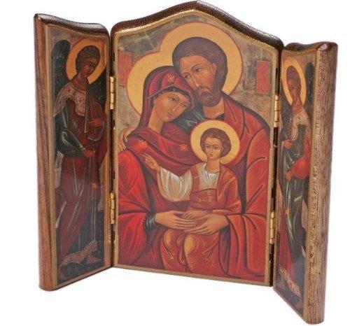 Sagrada Familia Religioso Icono. Tríptico Icono. Icon