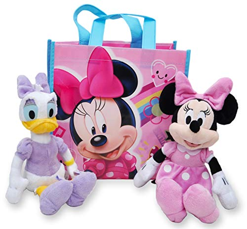 Disney 10' Plush Minnie Mouse & Daisy Duck 2-Pack in Gift Bag