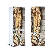 Vinilo para Frigorífico Tipos de Pan|Varias Medidas 185x60cm | Adhesivo Resistente y de Facil Aplicación | Pegatina Adhesiva Decorativa de Diseño Elegante|