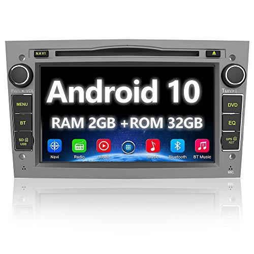 AWESAFE Android 10.0 Autoradio 2 Din con Navigatore [2G+32GB] 7 Pollici Car Radio per Opel Meriva Corsa Zafira Vivaro Antara Bluetooth WIFI DSP CD DVD USB RDS DAB+ Mirror Link (Grigio)