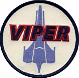 Main Street 24/7 Battlestar Galactica Colonial Viper Pilot Uniform Patch, White, 4x4 inches