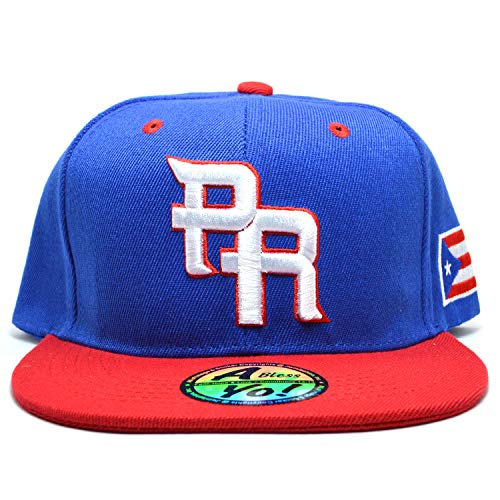 Puerto Rico National World Baseball Snapback Hat Cap Headwear Flat Bill Visor AYO9031