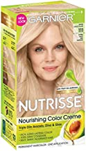 Garnier Nutrisse Level 3 Permanent Hair Creme, Extra, Light Ash Blonde 111 (White Chocolate)