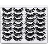 Newcally False Eyelashes 3D Faux Mink Eyelashes Handmade Luxurious Volume Fluffy Soft Reusable Eyes Lashes 14 Pairs Pack