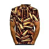 SQSH T-Shirt à Manches Courtes Hommes d'été Mode créatif S-Type Multicolore Vortex Ballon d'or T-Shirt Respirant
