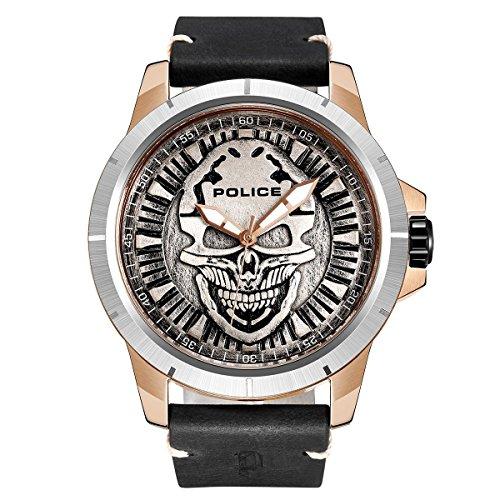 Police Herren-Armbanduhr Analog Quarz P14385JSRS-57