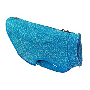 Kurgo K9 Core Dog Sweater | Year-Round Sweater for Dogs | Dog Fleece Vest | Knit Fleece Pet Jacket | Fleece Lining | Lightweight | Zipper opening for Harness | Adjustable neck | Coastal Blue (Medium)
