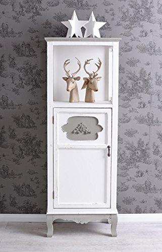 Unbekannt Vintage Schrank Garderobenschrank Dielenschrank Regal Weiss Standregal Antik Palazzo Exklusiv