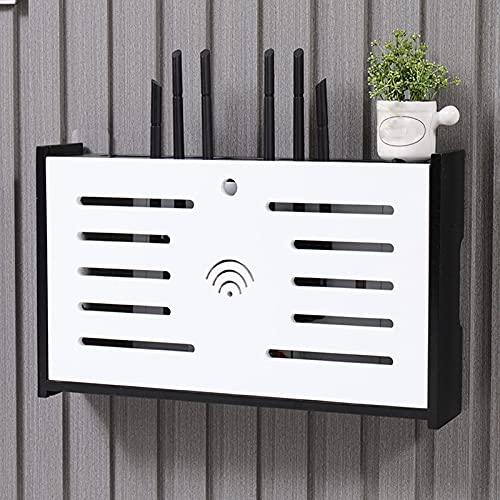 ZWWZ Caja de enrutador inalámbrico,Soporte de Pared de enrutador Separado,Cable,Organizador de Fuente de alimentación,Adecuado para almacenar enrutadores,decodificadores,regletas de enchufes,etc.