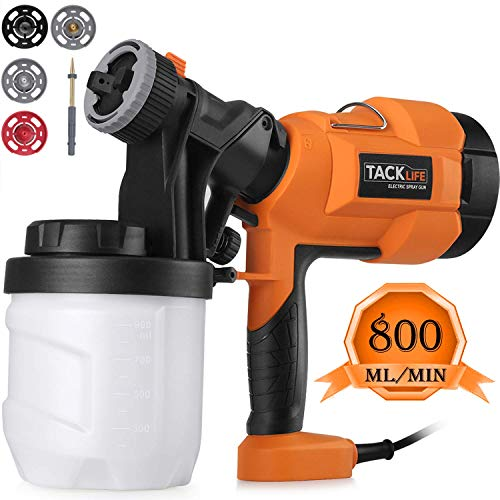 Tacklife Paint Sprayer, SGP15AC Electric Paint Spray Gun, 3 Spraying Patts, 900 ml Paint Container,...