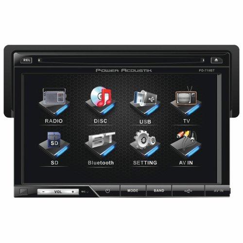 Power Acoustik PD-710B 7' Single-DIN in-Dash TFT/LCD Touchscreen DVD Receiver...