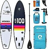 WOWSEA Rainbow R1 Stand Up Paddle Board, Langlebiges und Stabiles Jagen SUP Board Aufblasbar, Angeln Paddel Board, 325cm L x 80cm W x 15cm H mit iSUP Zubehör (Regenbogen)