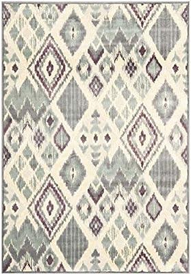 "Safavieh Paradise Collection PAR114-740 Grey and Multi Viscose Area Rug (8' x 11'2"")"