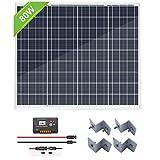 ECO-WORTHY 80W ソーラーパネル セット12V バッテリー充電用 20Aコントローラー付け【日本倉庫出荷 5年品質保証 メーカー販売】