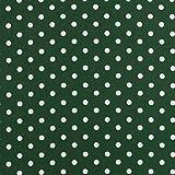babrause® Baumwollstoff Punkte Tannengrün Webware