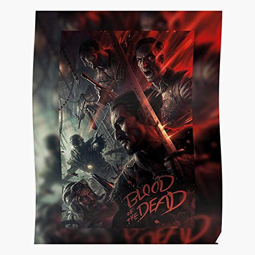 Nunadesign98 The Call Blood Botd Black Ops of Dead 4 Cod Duty Bo4 |Impressive and Trendy Poster Print Decor Wall or Desk Mount Options