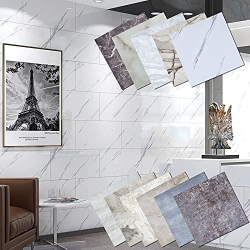 PMSMT 30 * 30 cm azulejo de mármol Pegatinas Autoadhesivas para el Piso de la Pared Fondos de Pantalla de baño DIY Dormitorio TV telón de Fondo decoración para el hogar