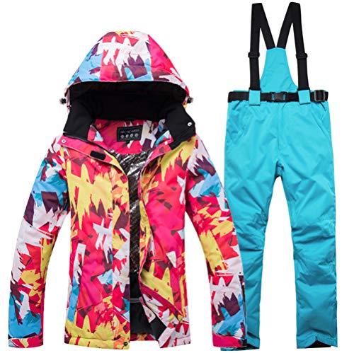 AZUOYI Mannen Vrouw Ski Suit Gedrukt Winter Ski Suit Waterdichte Winddichte Snowsuit Snowboard Set Ski Jas Ski Bib Broek Set