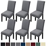 GoodtoU Chair Covers for Dining Room Stretch Washable Dining Chair Covers Protector (Set of 6, Light Gray)