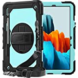 Samsung Galaxy Tab S7 Case 2020 SM-T870/T875 | SIBEITU Heavy Duty Shockproof Rugged Case with S Pen Holder Screen Protector Stand Hand & Shoulder Strap for 11 Tab S7 11 inch