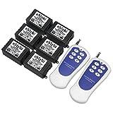eMylo® AC 220V-230V-240V 1000W 6x 1 Canale RF Remote Control interruttore trasmettitore rel¨¨ Smart Wireless con ricevitore