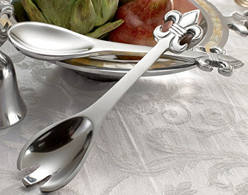 "9"" Polished Aluminum Fleur de Lis Serving Set by KINDWER"