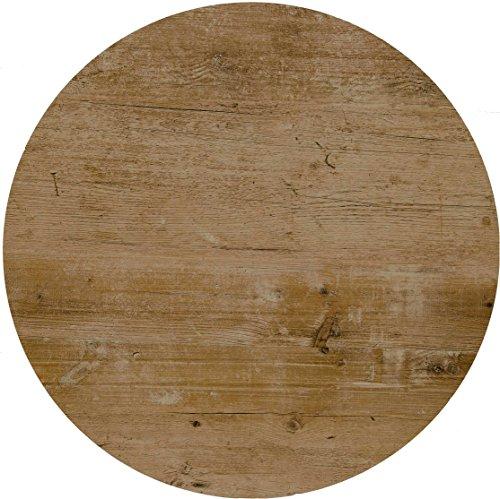 Werzalit Tischplatte Dekor Findus 60 cm rund wetterfest Vintage-Optik Ersatztischplatte Bistrotisch Stehtisch Tisch Gastronomie