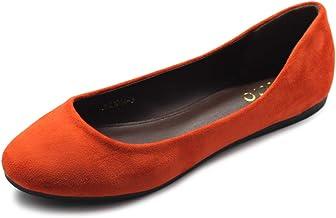 Amazon.com: Orange Flats