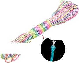3mm Licht Regenboog Paracord Armband Macrame Koord Craft String Twine Touw voor DIY Lanyard Sleutelhanger Shoselace Waslij...