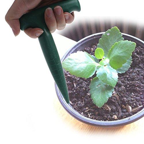 Simplelife Plantoir en plastique pour creuser des bonsaïs - Vert