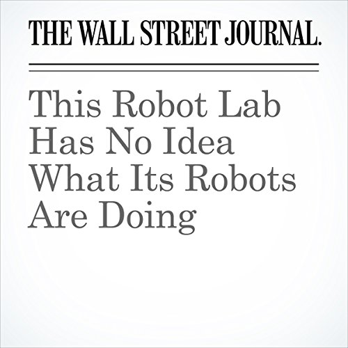 This Robot Lab Has No Idea What Its Robots Are Doing | Melissa Korn