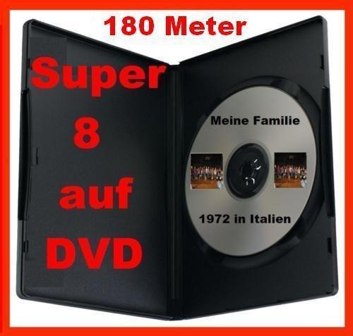 180 Meter SUPER 8 auf DVD Projektor DIGITALISIEREN ÜBERSPIELEN KOPIEREN
