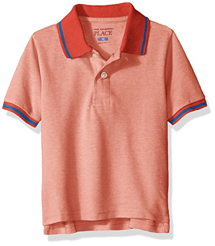 The Children's Place Baby Boys' Toddler Short Sleeve Novelty Polo, Heat Wave, 2T